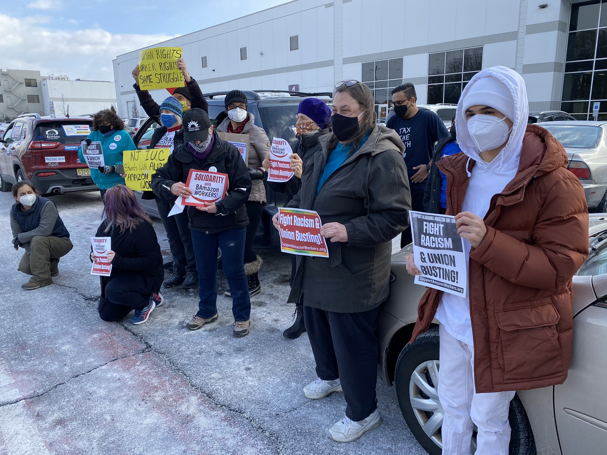 National Day of Solidarity With Alabama Amazon Workers - Carteret, NJ