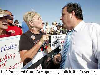 President Gay and Governor Christie