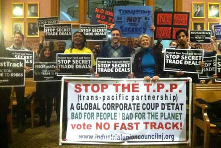 No Fast Track Stop the TPP