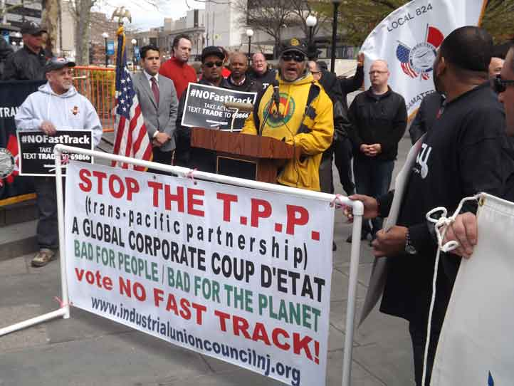 TPP Protest in Jersey City